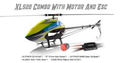 Kit XL520 C/ Pás RT 510mm, Motor XL4020 1100KV e HW V4 Platinum 100A  XL52K03