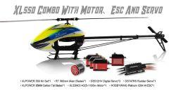 Kit XL550 Combo (Pas, Motor, Esc e Servos)  XL55K04
