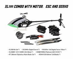 Kit Prôtos 380 Combo (Pas, Motor, Esc e Servos) XL38K02